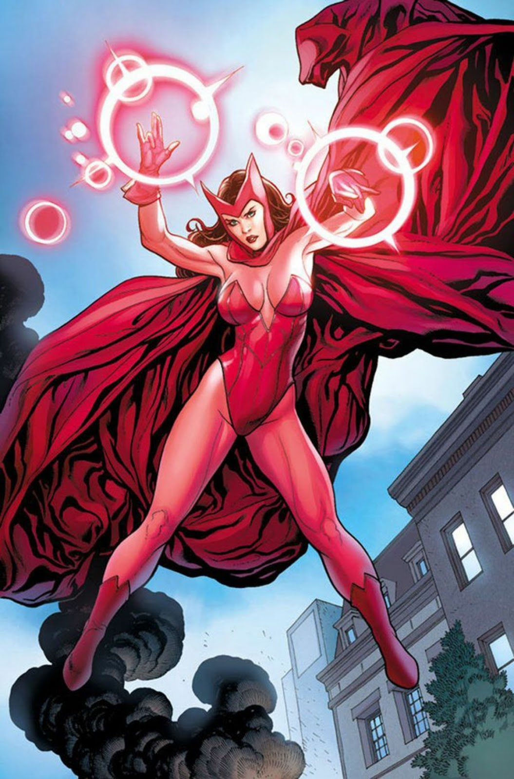 Scarlet Witch in her costume