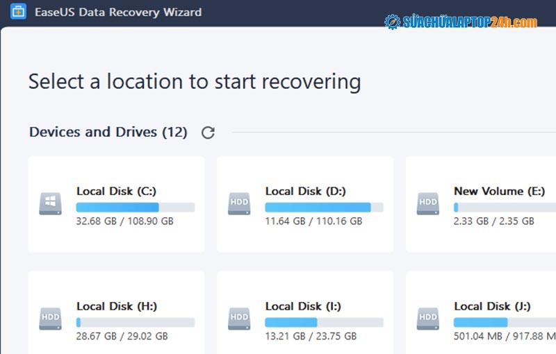 Phần mềm phục hồi dữ liệu EaseUS Data Recovery Wizard