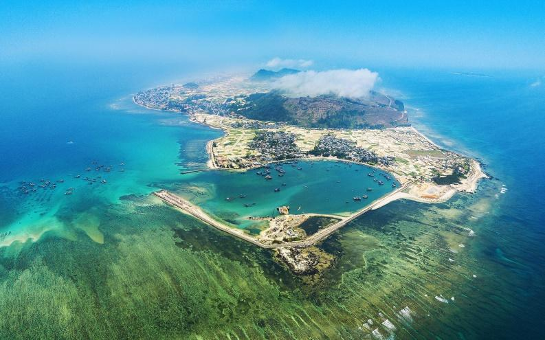 Ly Son island viewed from above