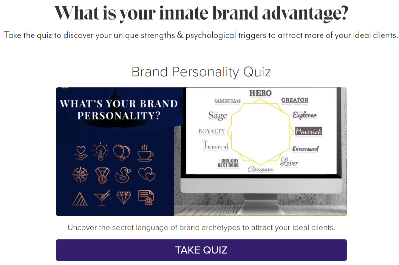 quiz cover for What's your brand personality? quiz