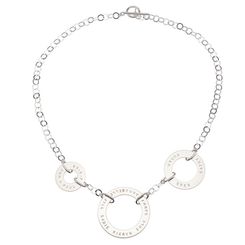 Trio Necklace by Citrus Silver