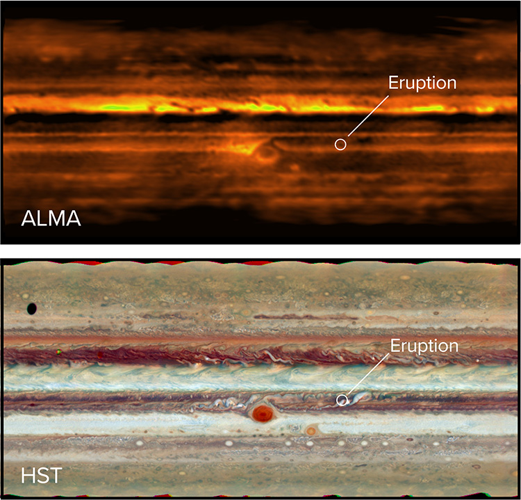 Scientists Saw an 'Energetic Eruption' Under Jupiter's Clouds for the First Time