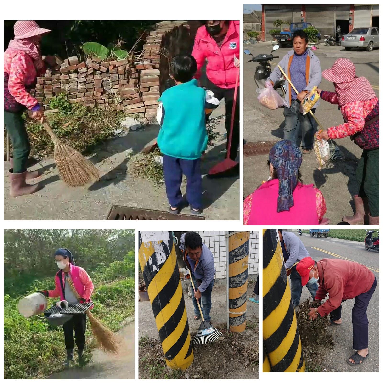 龍潭村邁開群策群力的步伐1:2020新春全村大掃除