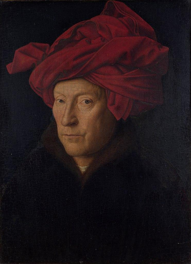 https://upload.wikimedia.org/wikipedia/commons/thumb/c/ca/Portrait_of_a_Man_in_a_Turban_%28Jan_van_Eyck%29_with_frame.jpg/742px-Portrait_of_a_Man_in_a_Turban_%28Jan_van_Eyck%29_with_frame.jpg