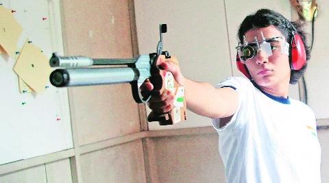 Indian Shooters Yashaswini Deshwal Shooting