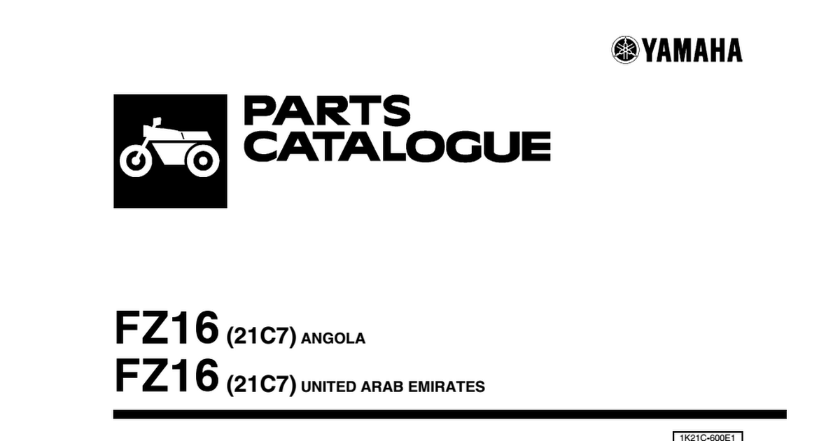 Fz16 Parts Catalogue Pdf Google Drive