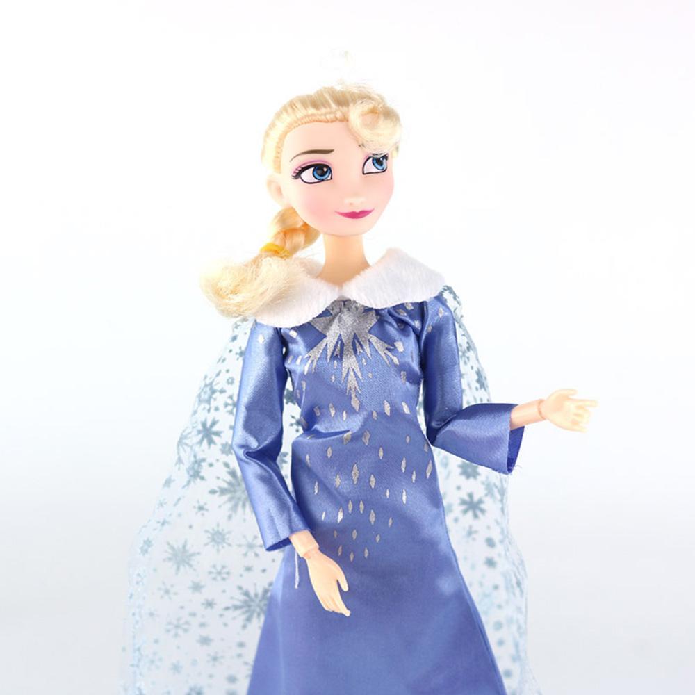 Disney Anime Frozen 2 Elsa Anna Dolls 30cm 12 Joint Movable Olaf Doll Girls Gift