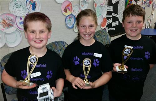 Lego Robotics holding awards
