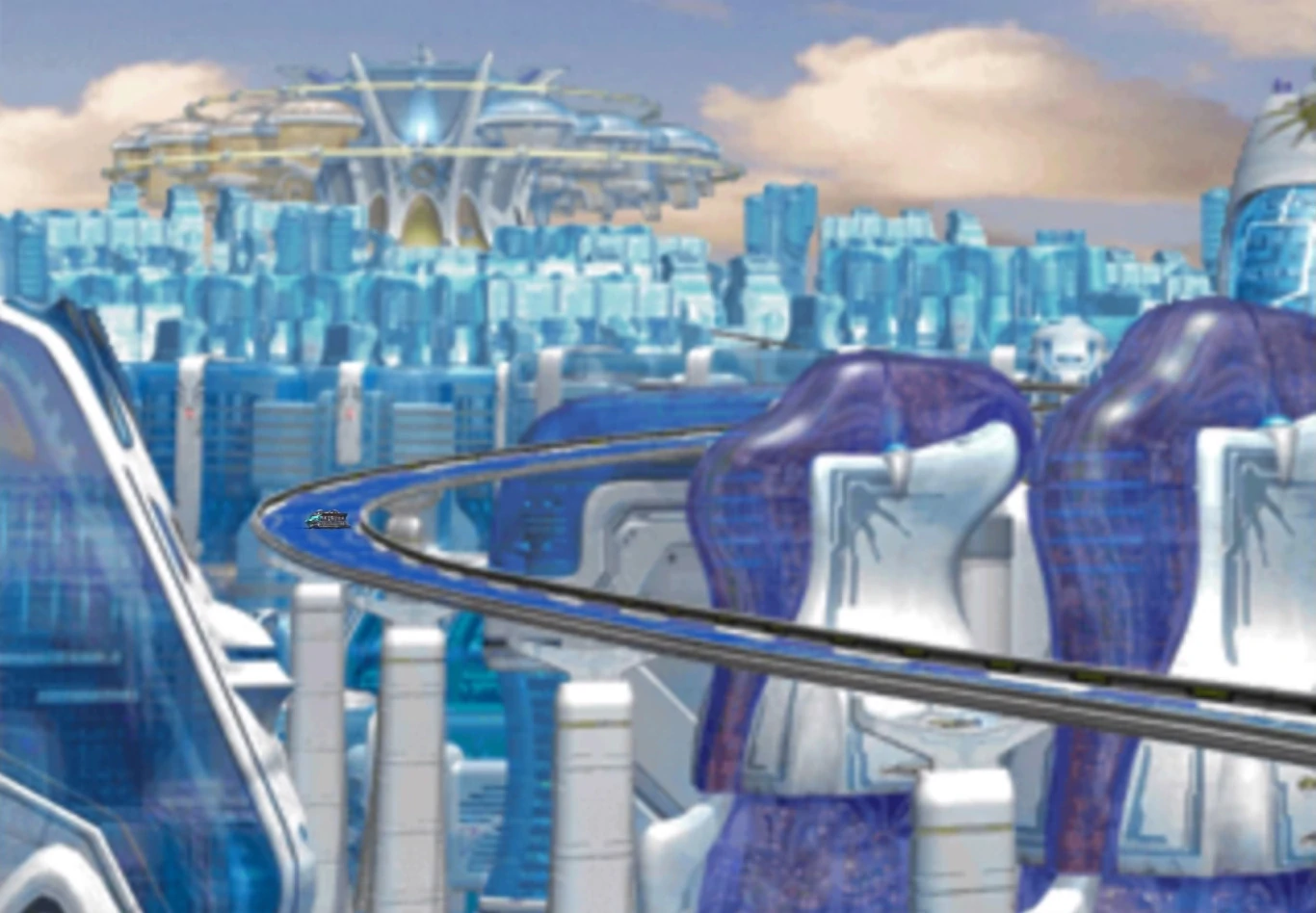 FFVIII is not a top PS1 RPG - futuristic cityscape