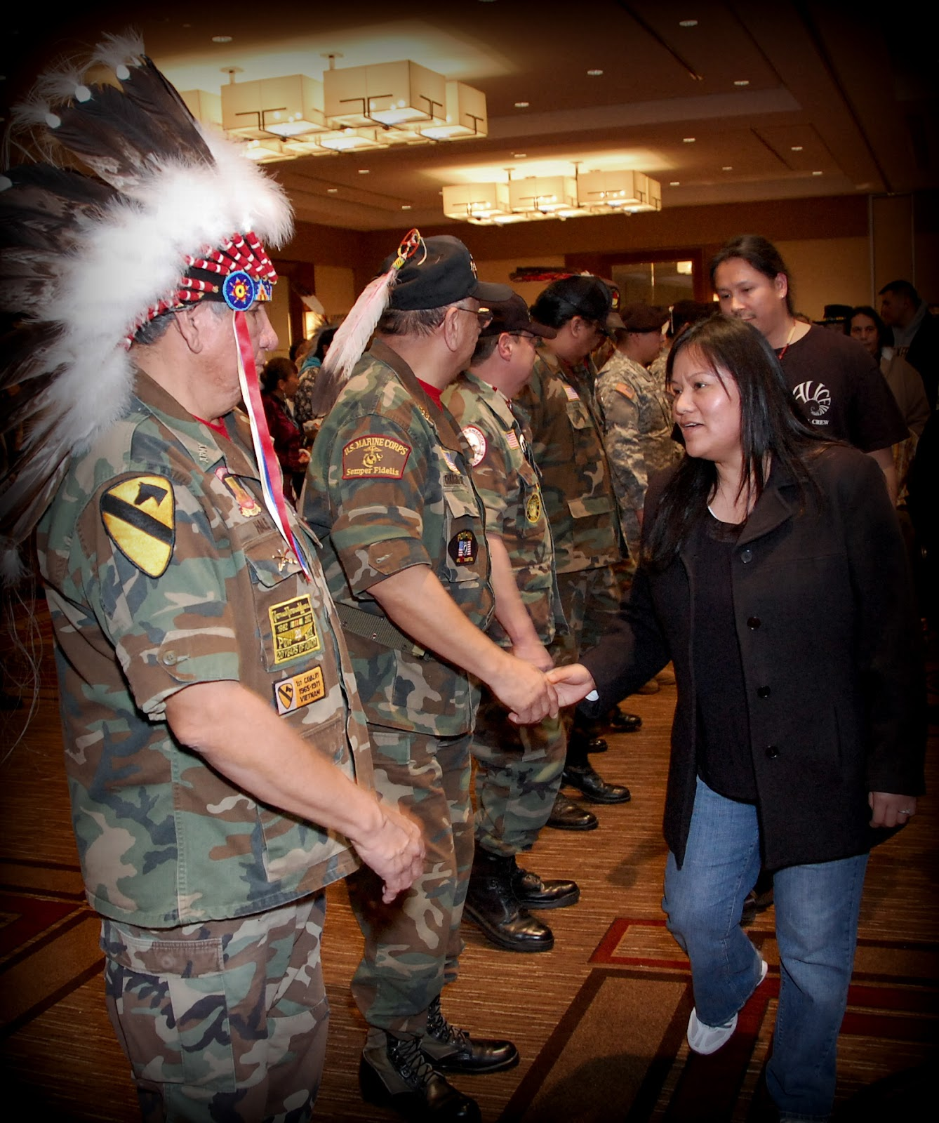 Native Veterans in Washington DC thanking their fellow veterans - Photo: Vincent Schilling