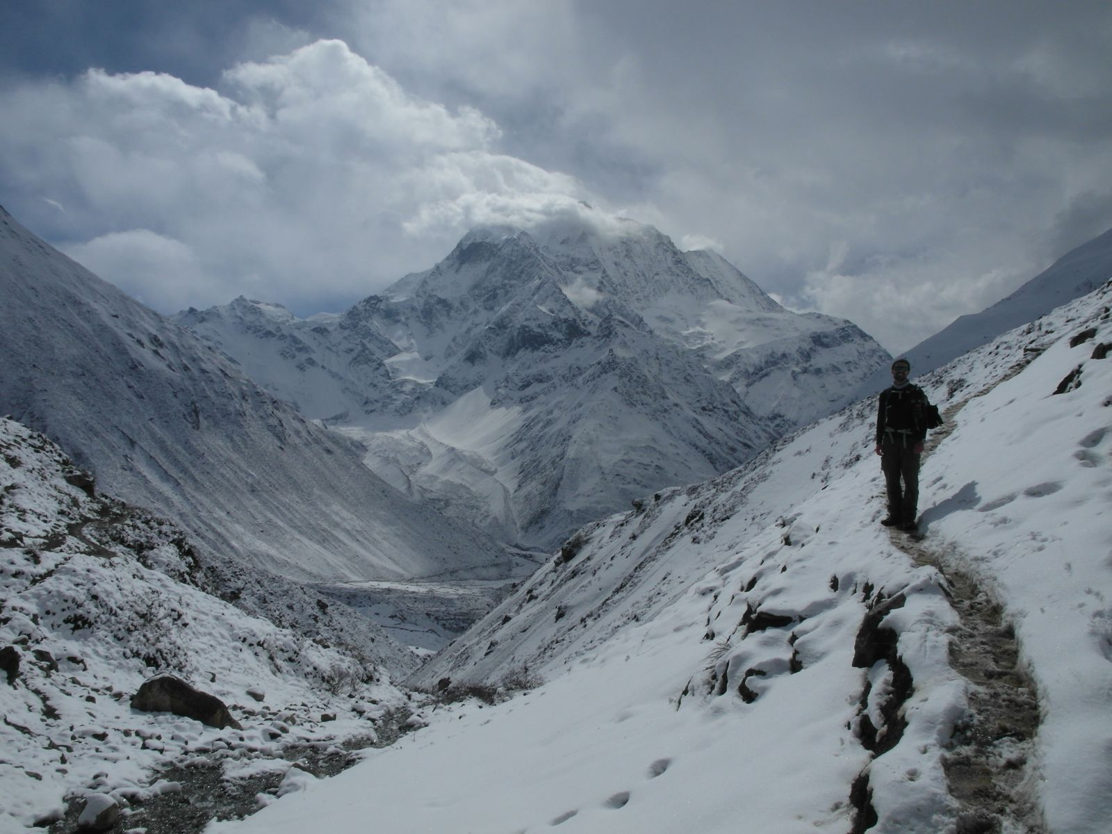 high altitude manaslu trek