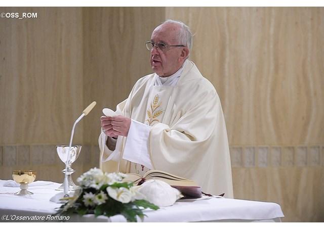 Pope Francis celebrating Mass at the Santa Marta residence - OSS_ROM