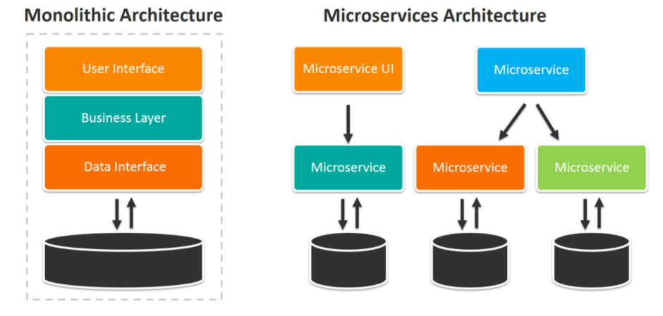 Monolithic architecture and Microservices architecture