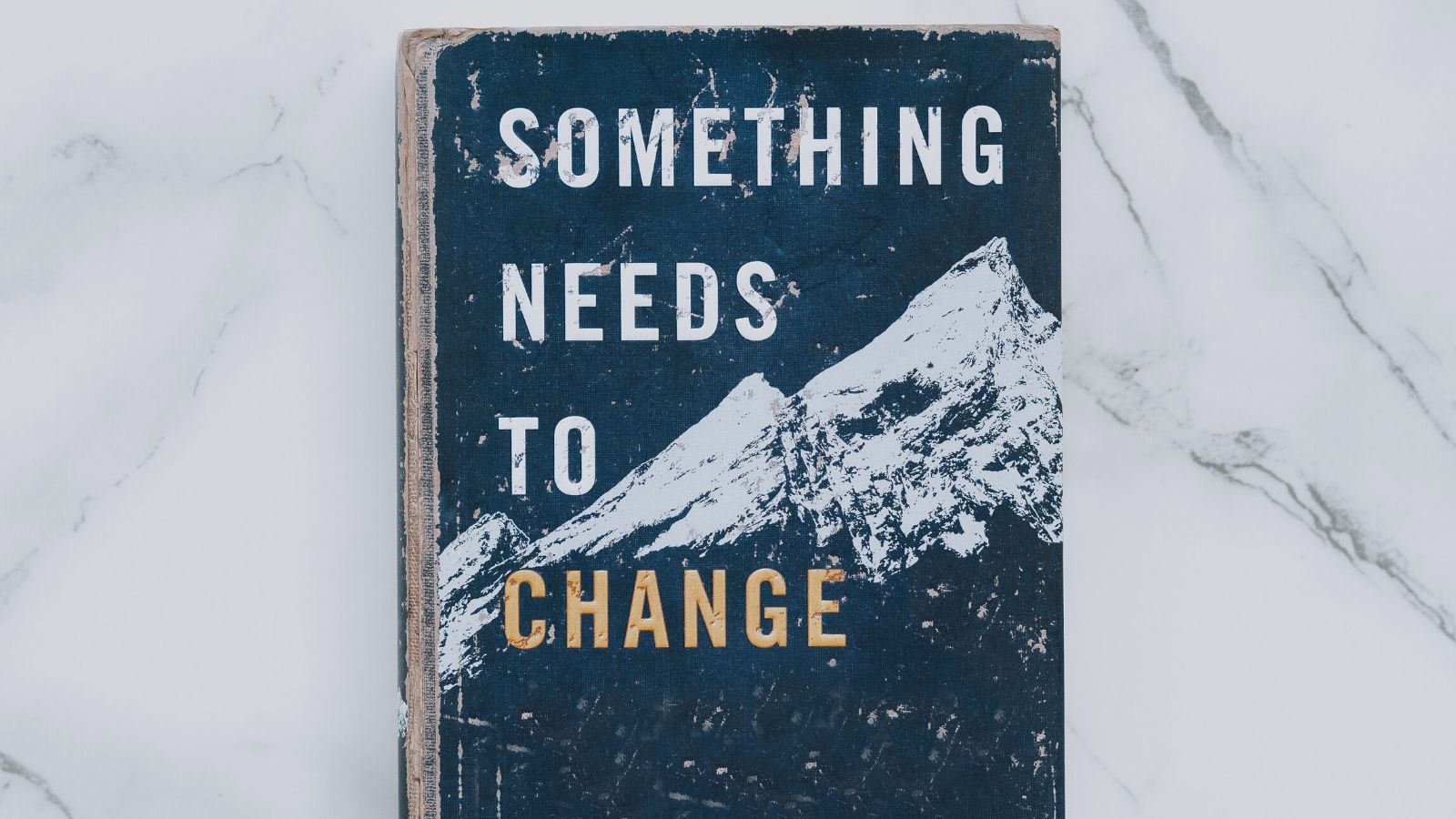 "A book cover displaying the title, ""Something Needs to Change"""