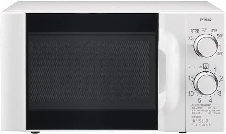 ツインバード 電子レンジ60Hz専用 ホワイト