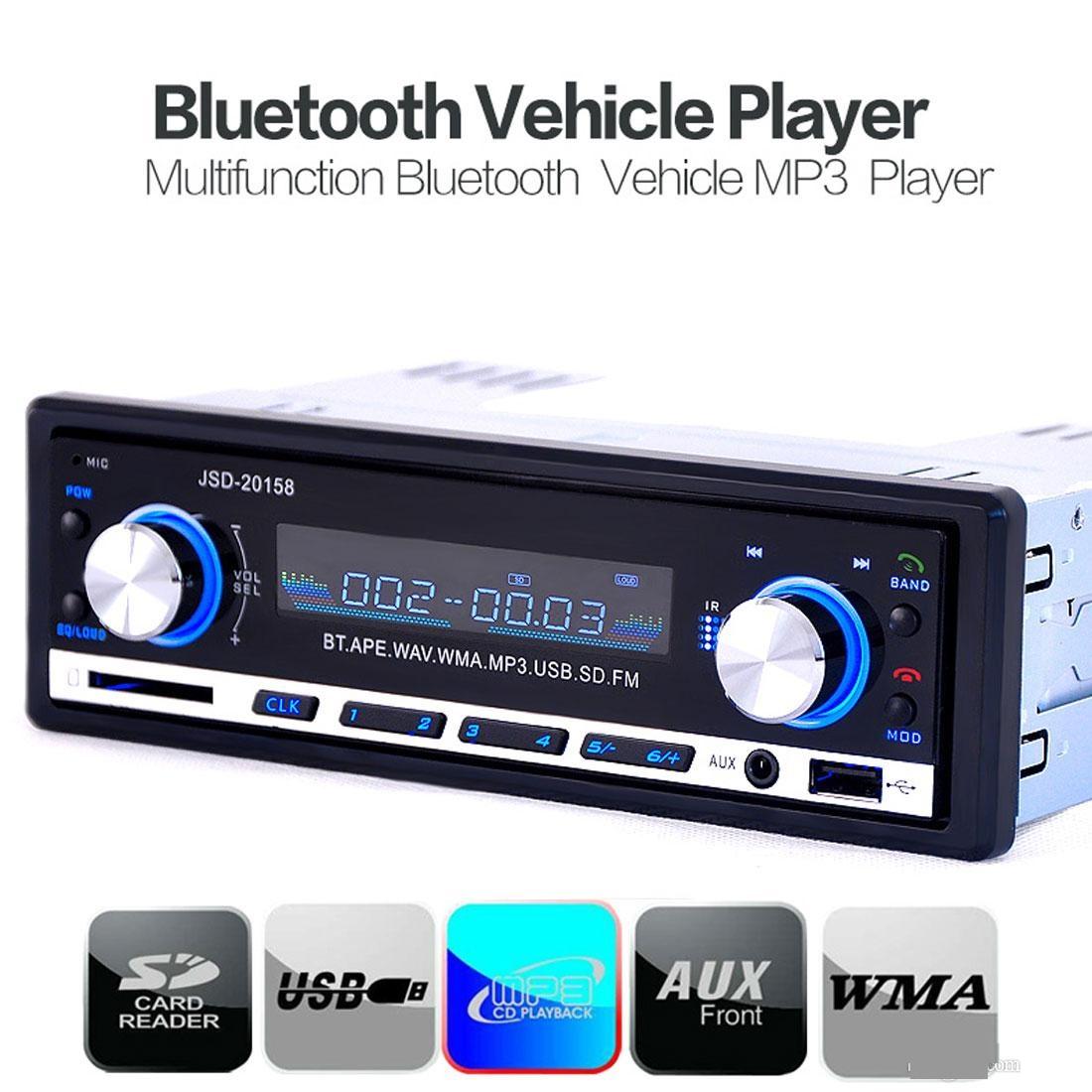 Autoradio Bluetooth Encastré Multifonctions Lecteur MP3 Radio FM entrée Aux Port SD & USB Kit Mains Libres www.avalonkef.com.jpg