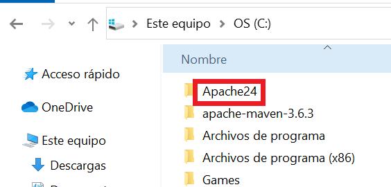 instalar apache