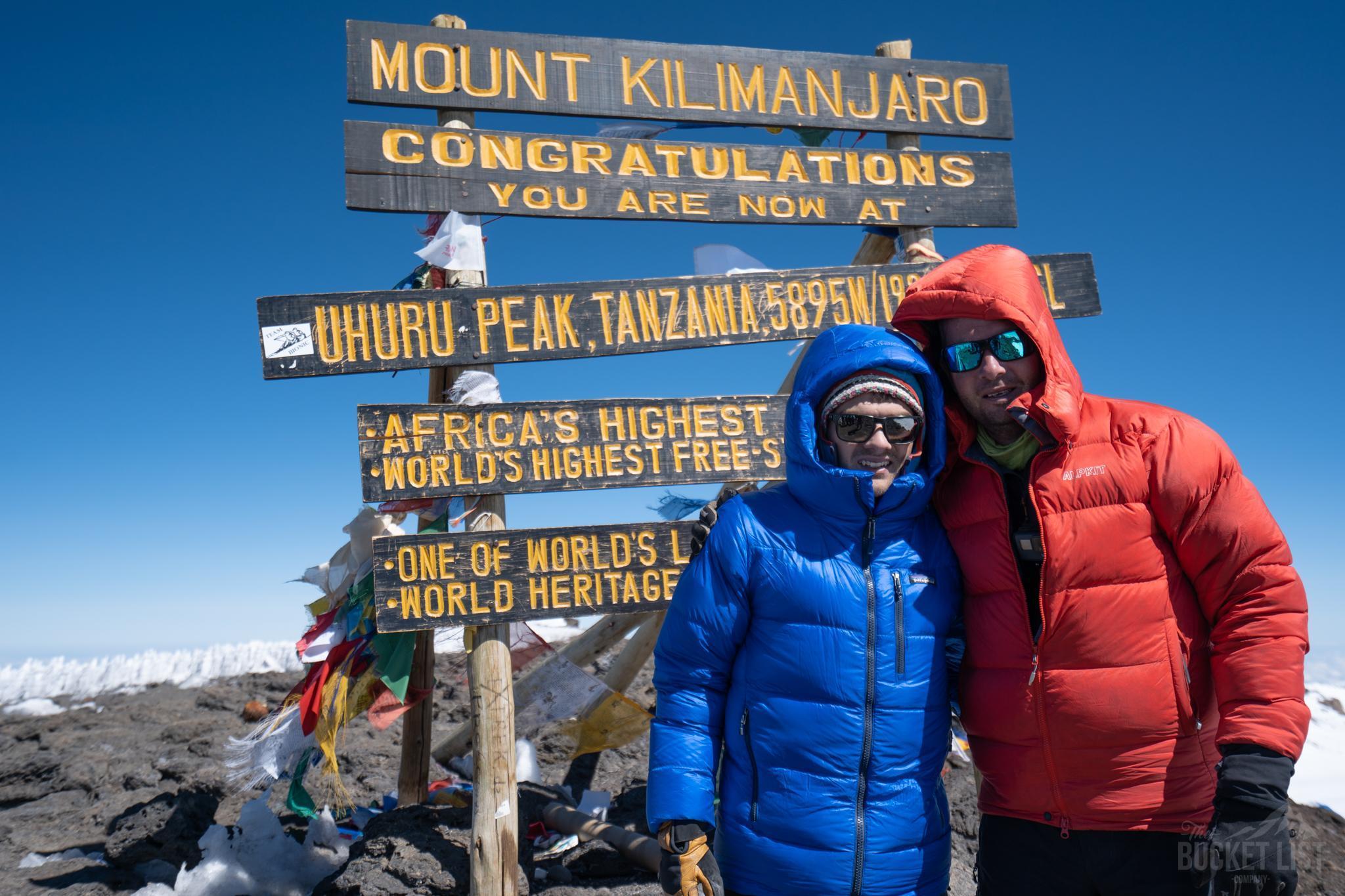 Twi trekkers at the Kilimanjaro summit