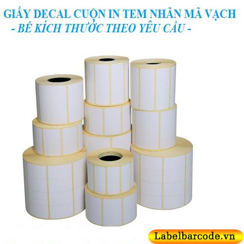Đa dạng kích thước giấy decal in mã vạch luôn stock kho tại An Thành