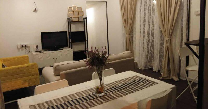Deko Ruang Tamu Rumah Teres Kos Rendah