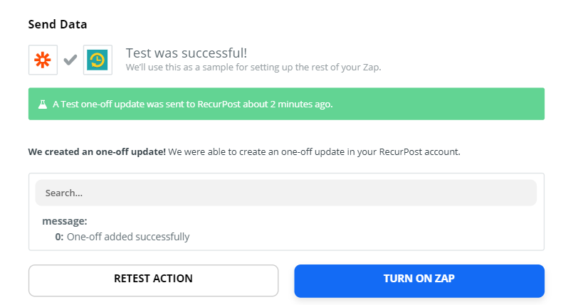 create one-off posts on RecurPost from Pocket using Zapier