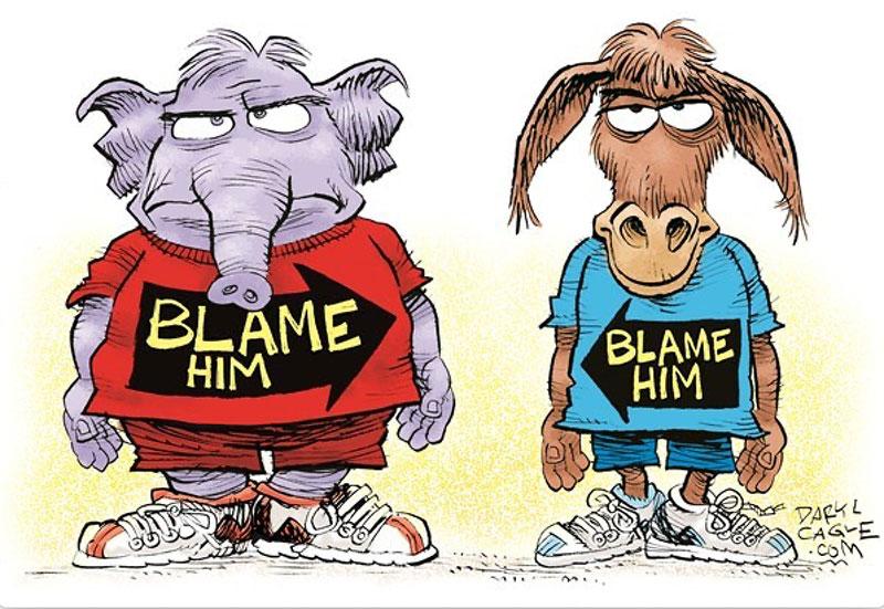 blame him cartoon democrats republicans