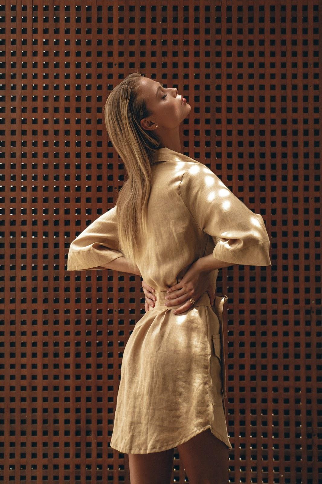 Mae Linen Dress