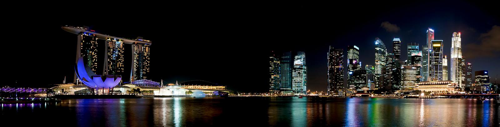 marina bay night skyline singapore flyspaces