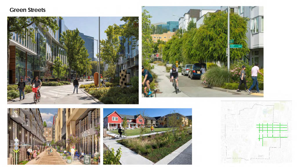 The report cites some green street examples from around the world. (City of Kirkland)