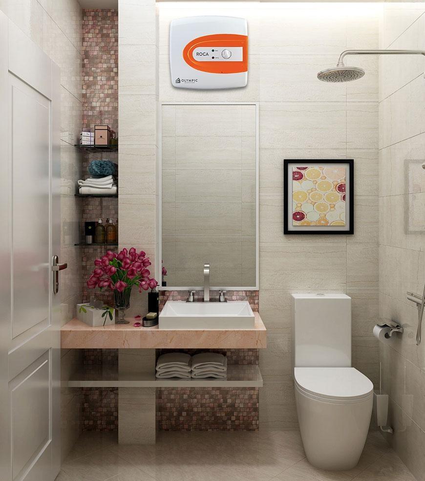 Bình nóng lạnh phù hợp với không gian phòng tắm