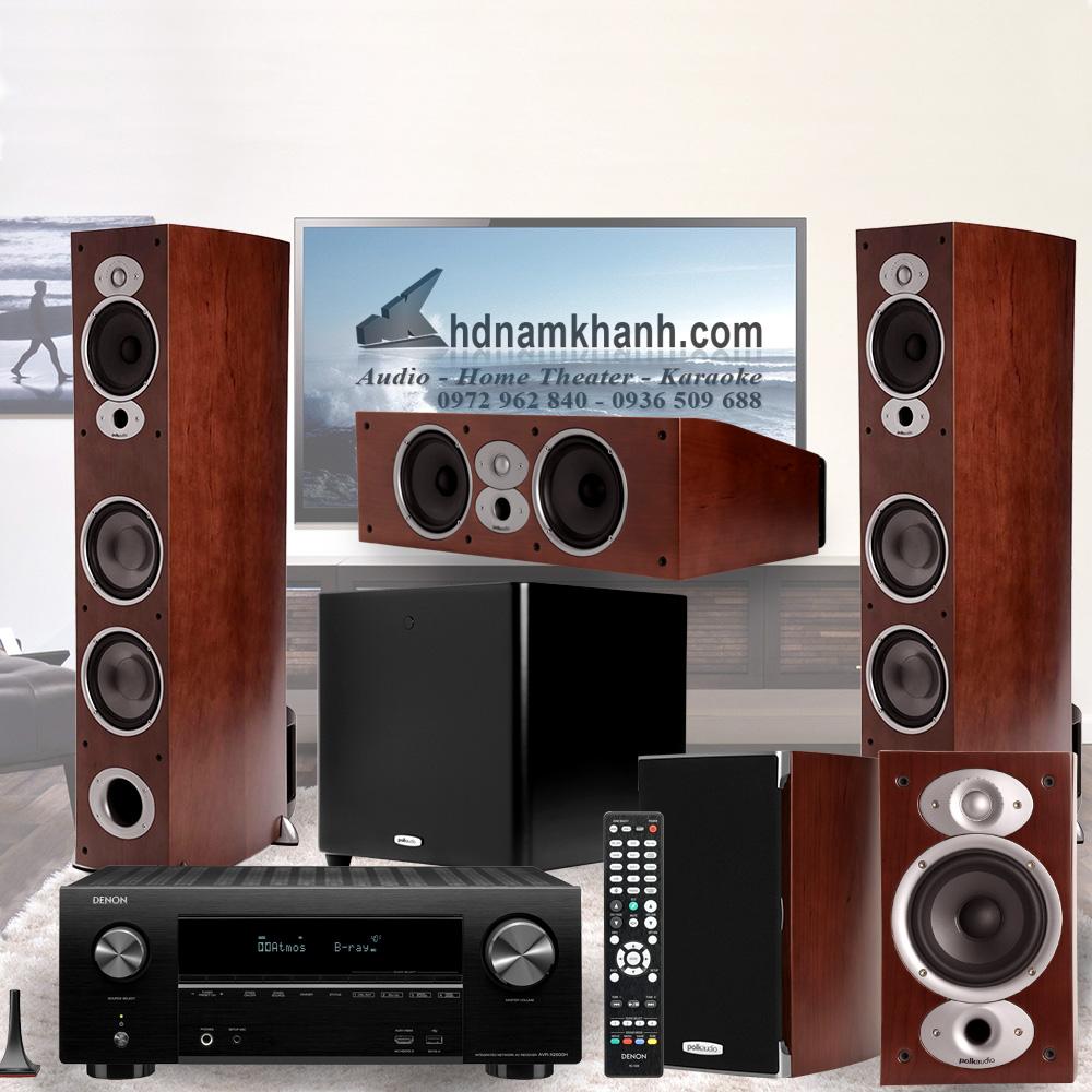 Amply Denon X1600H + Bộ Loa Polk Audio A7 rất sang trọng, âm thanh hay - 1