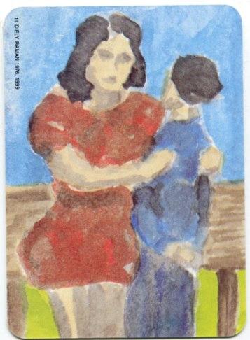 Карта из колоды метафорических карт Ох: мать и сын