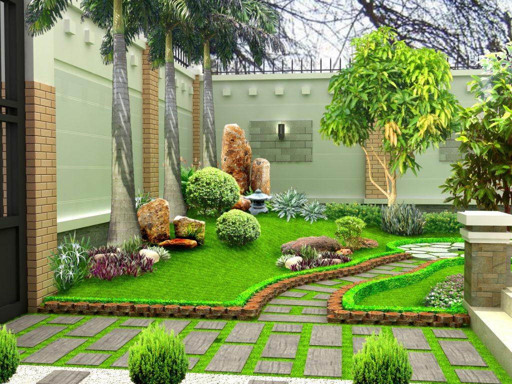 Thiết kế tiểu cảnh sân vườn đẹp mắt