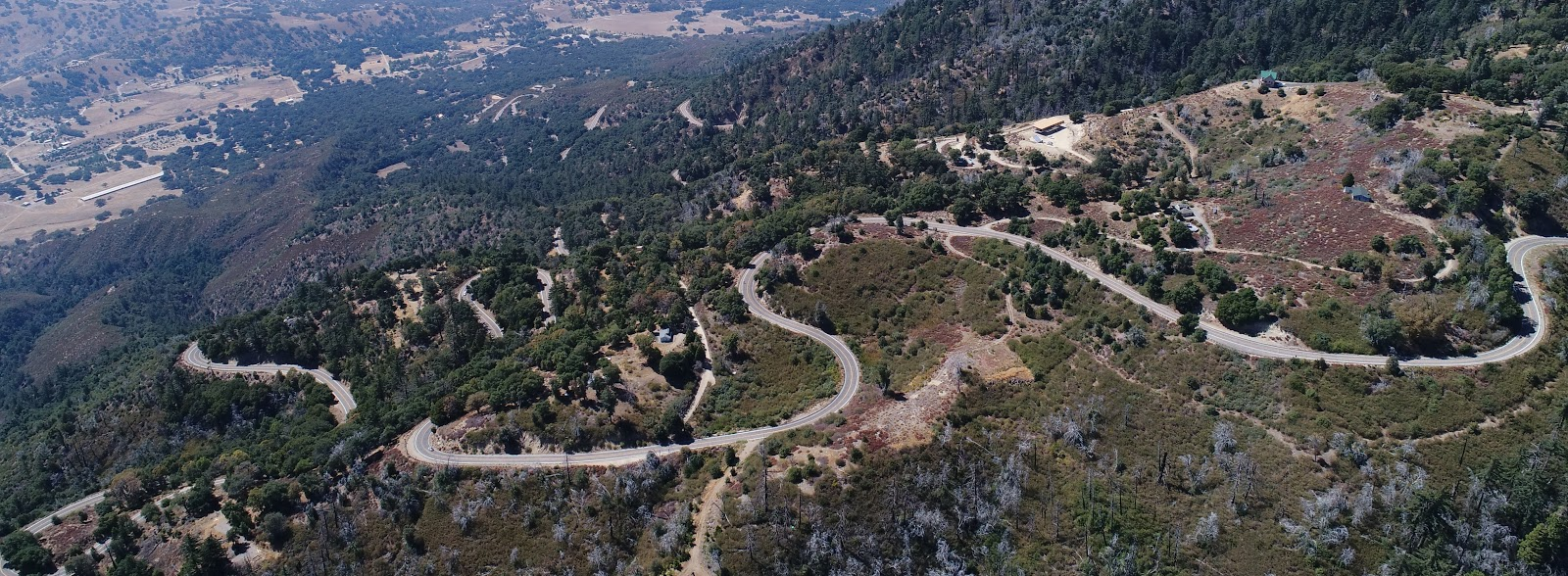 Climbing Palomar Mountain by bike - intersection E Grade and Crestline Road San Diego County