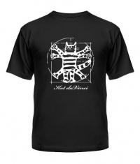 футболка Кот да Винчи фото