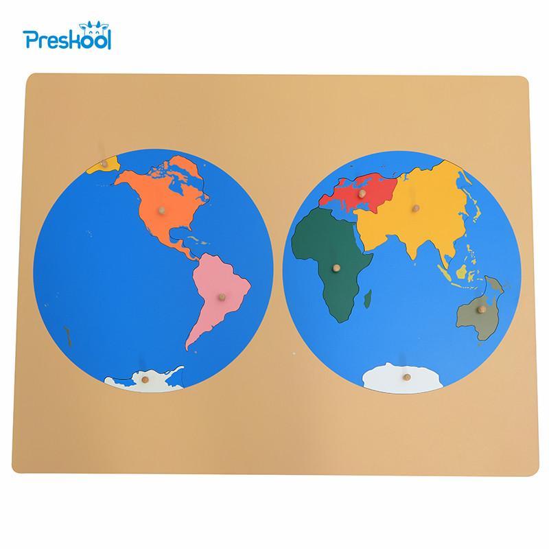 planisphère puzzle du monde activité montessori continents