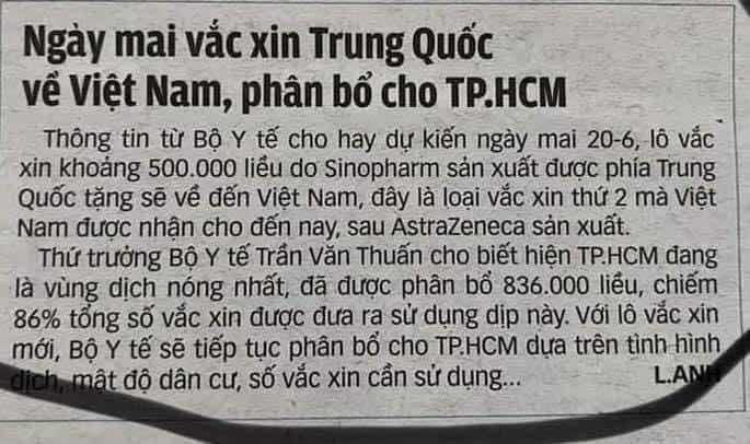 VACCINE TRUNG QUỐC