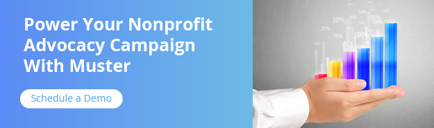 Power your nonprofit advocacy campaign with Muster. Get started by scheduling a demo.
