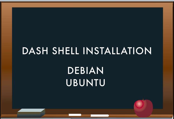 debian shell install dash shell
