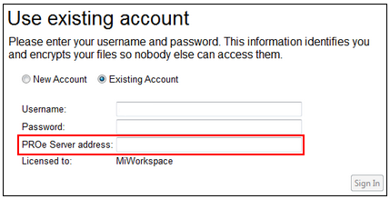 Use Existing Account