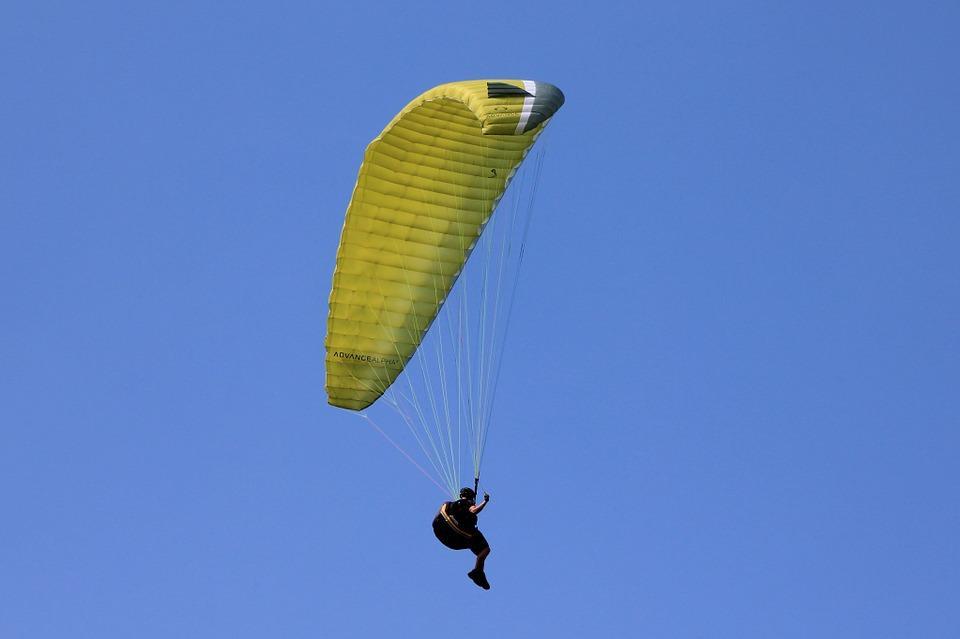 Parapente, Esportes De Ar, Desporto, Vôo, Céu, Azul