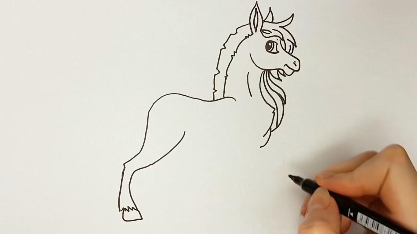 como dibujar un caballo kawaii facilmente