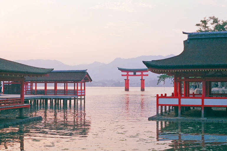 Miyajima Shrine Hiroshima Japan JR West