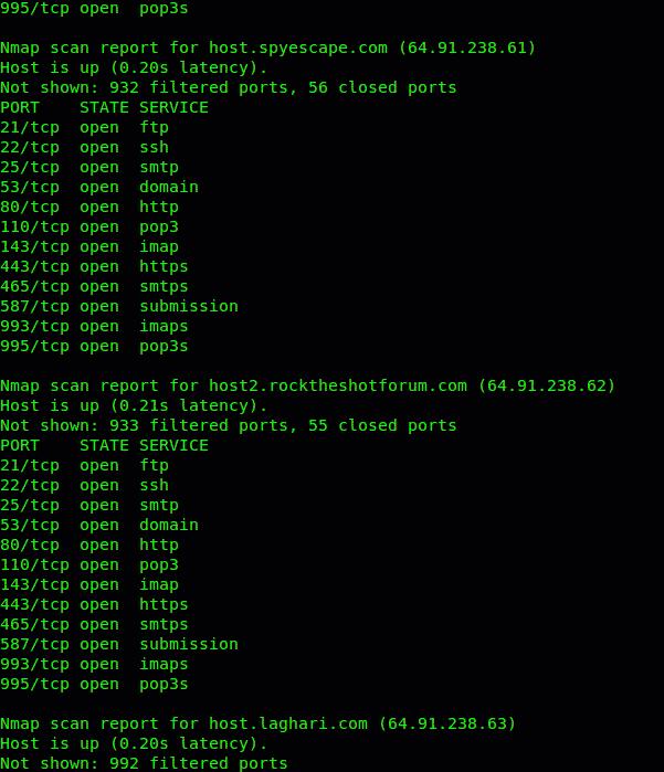 escaneo rango ip linux