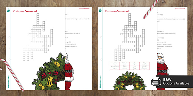 KS3 Science Christmas Crossword