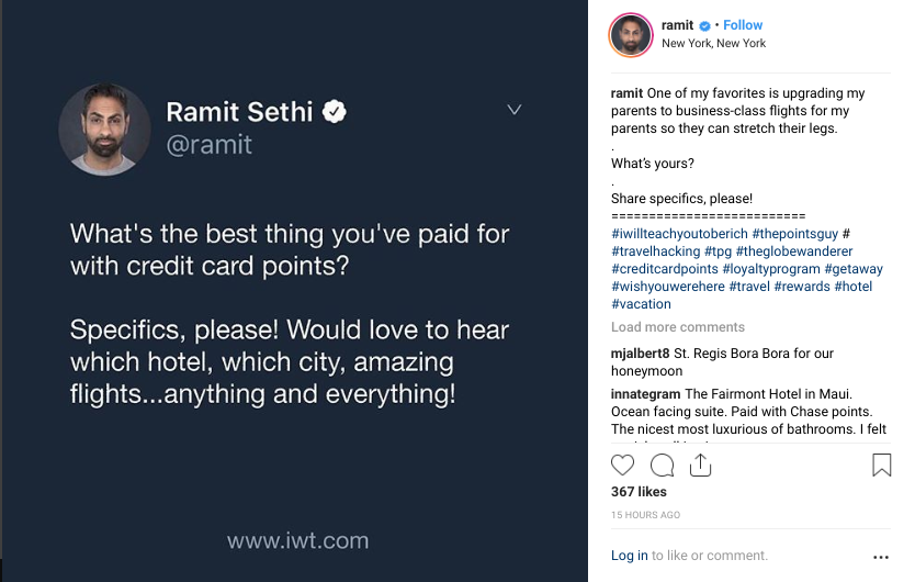Ramit Sethi humanizes his brand through his Instagram profile