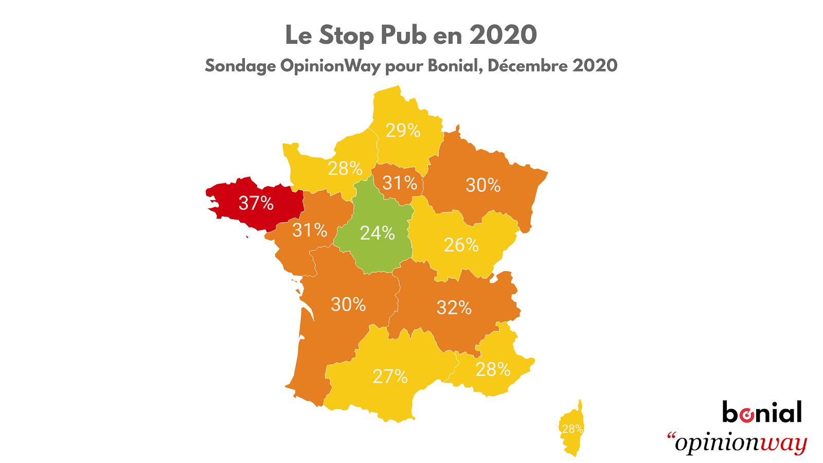 Sondage Opinion way prospectus carte de france stop pub