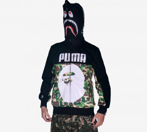 Áo khoác Puma x Bape Black Camo