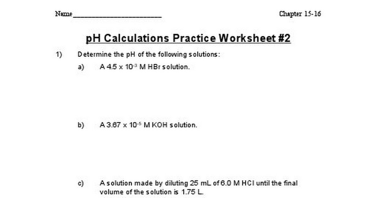 pH calculations practice worksheet 2.doc - Google Drive
