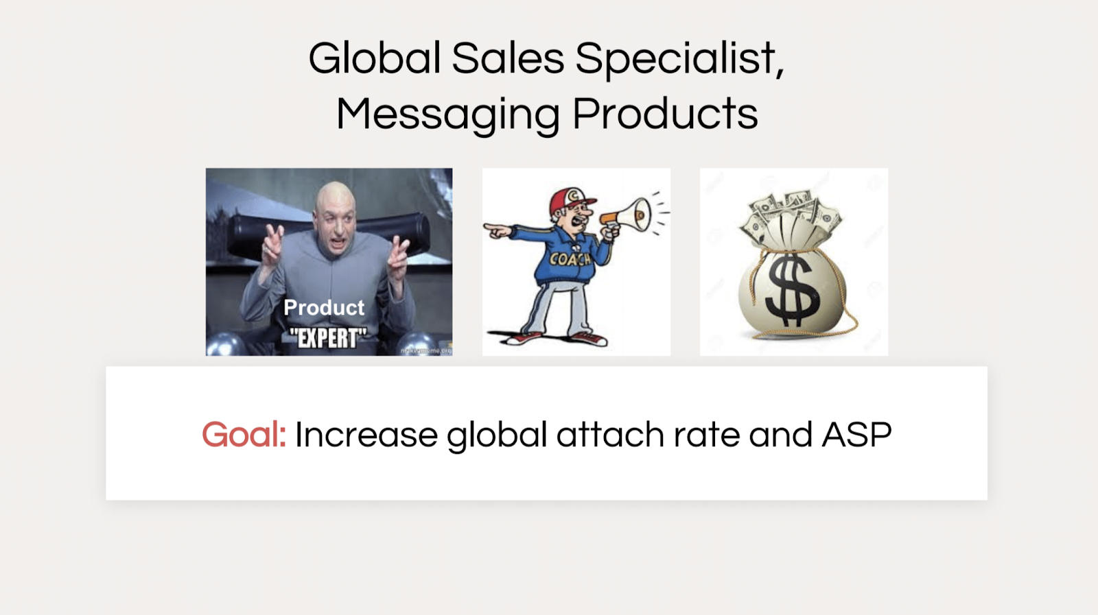 goal: increase global attach rate and ASP